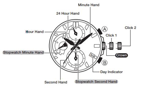 Casio EFV-540 — простенький хронограф с авто секундомером