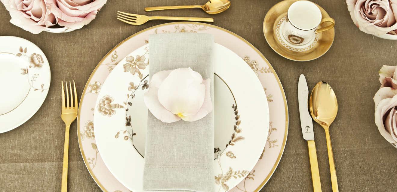 DALANI  Posate dorate dettagli glamour per la tavola