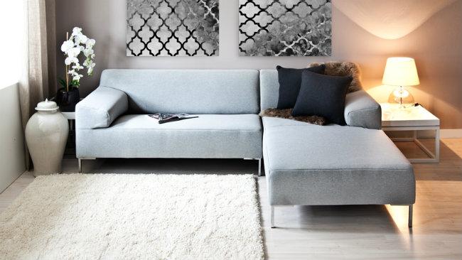 DALANI  Consigli e spunti per arredare un soggiorno grigio