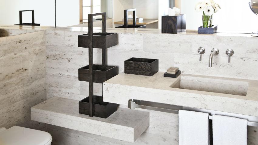 DALANI  Lavabo in resina stile moderno per il bagno