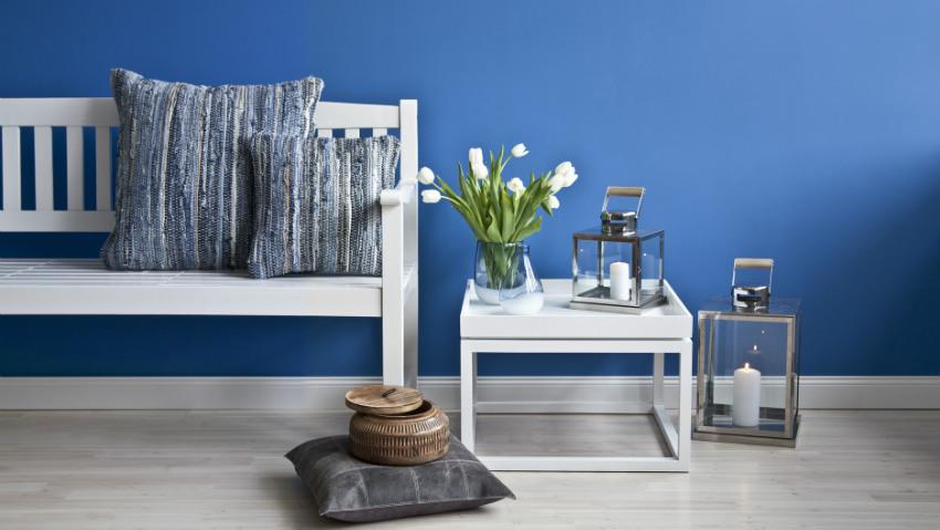 DALANI  Carta da parati blu armonia ed eleganza in casa