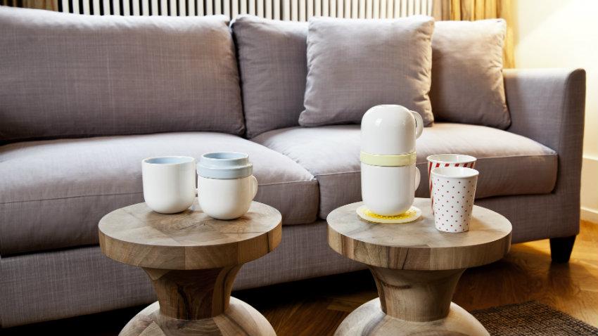 Creer een goede basis met een taupe bank in huis  Westwing
