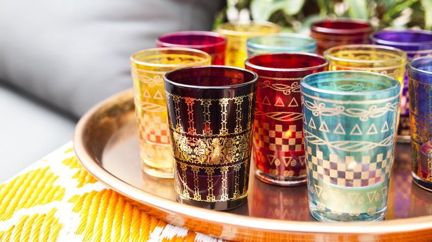 Mooie marokkaanse theeglazen met korting  Westwing