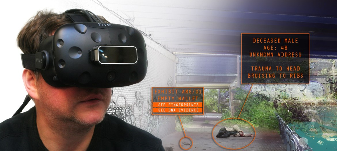 Evidential is currently using VR to reconstruct crime scenes in 3D