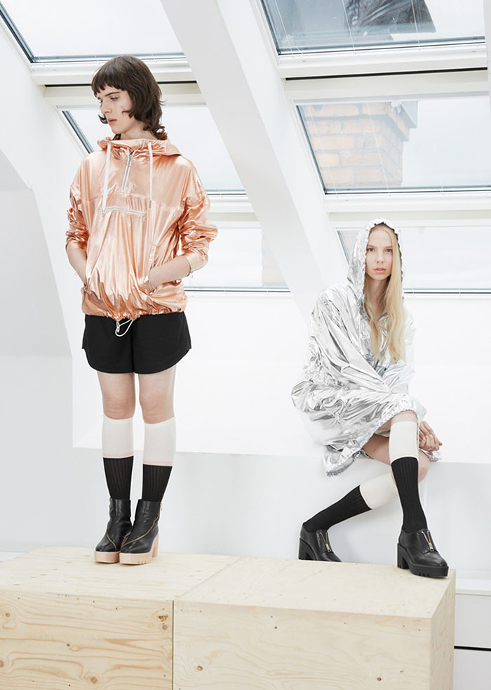 AW15 campaign featuring models Hari Nef and Valentijn De Hingh photographed by Amos Mac