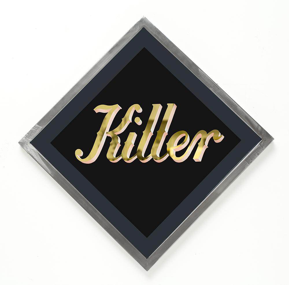 'Killer' artwork on glass