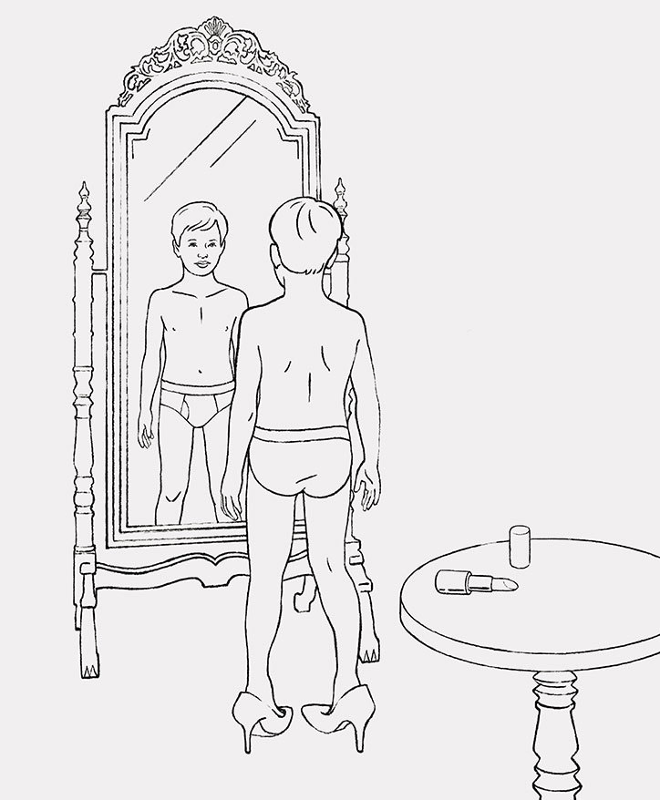 Facing Gender Diversity colouring book, by Cecilie Nørgaard