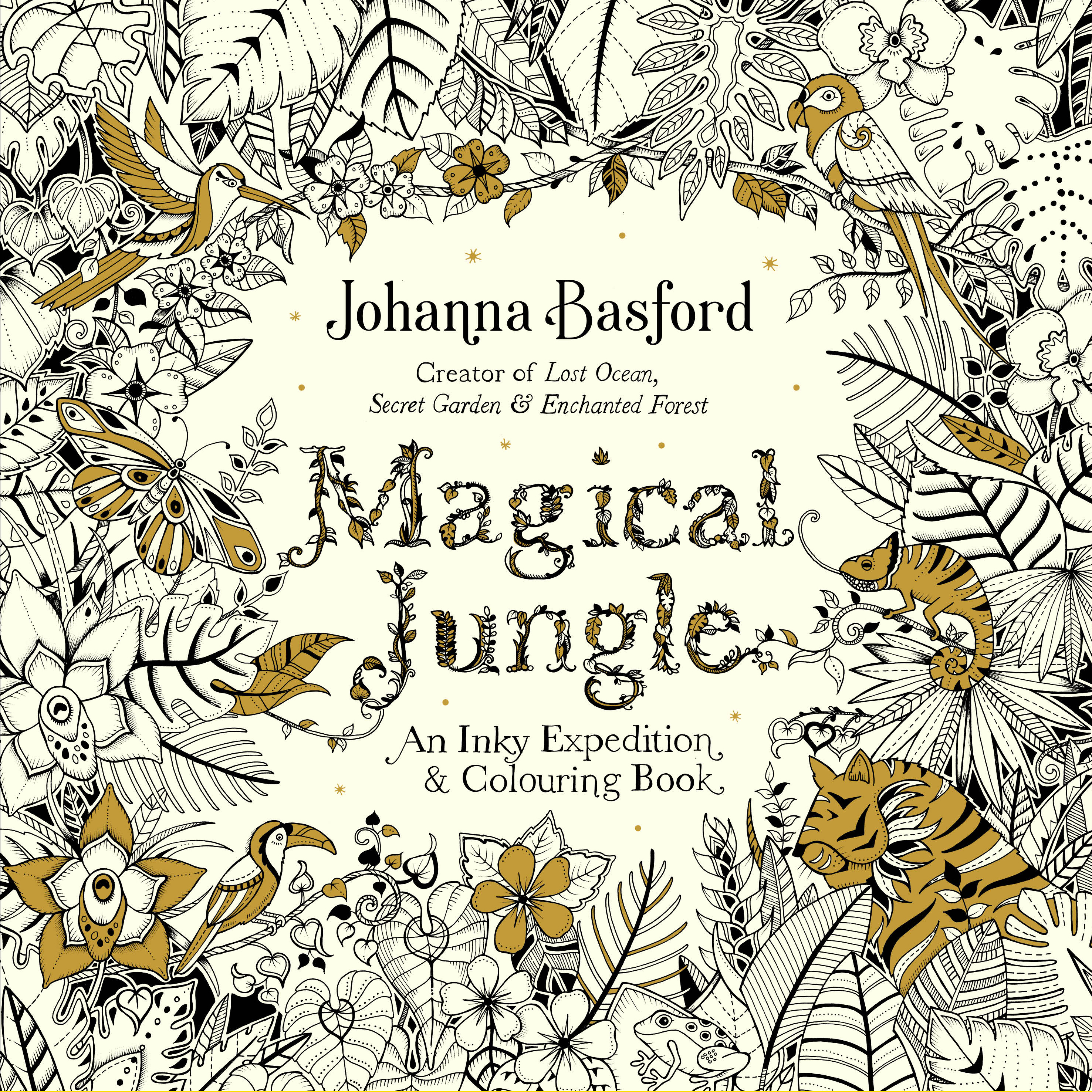 Magical Jungle Colouring Book By Johanna Basford
