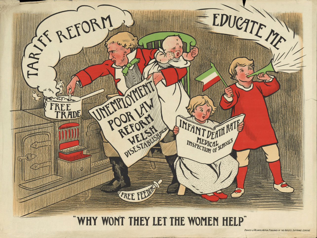The Long Lost Suffrage Protest Posters Used To Fight For