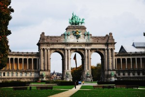 Cinquantenaire triumphal arch, Brussels. Photo courtesy of Ssolbergj via Wikimedia.