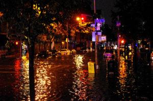 Flooding during Hurricane Sandy. Photo courtesy of David Shankbone via Flickr.