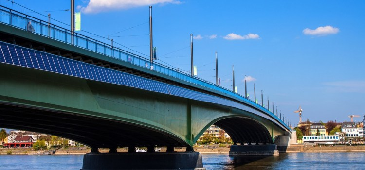 Solar bridge, Bonn, Germany