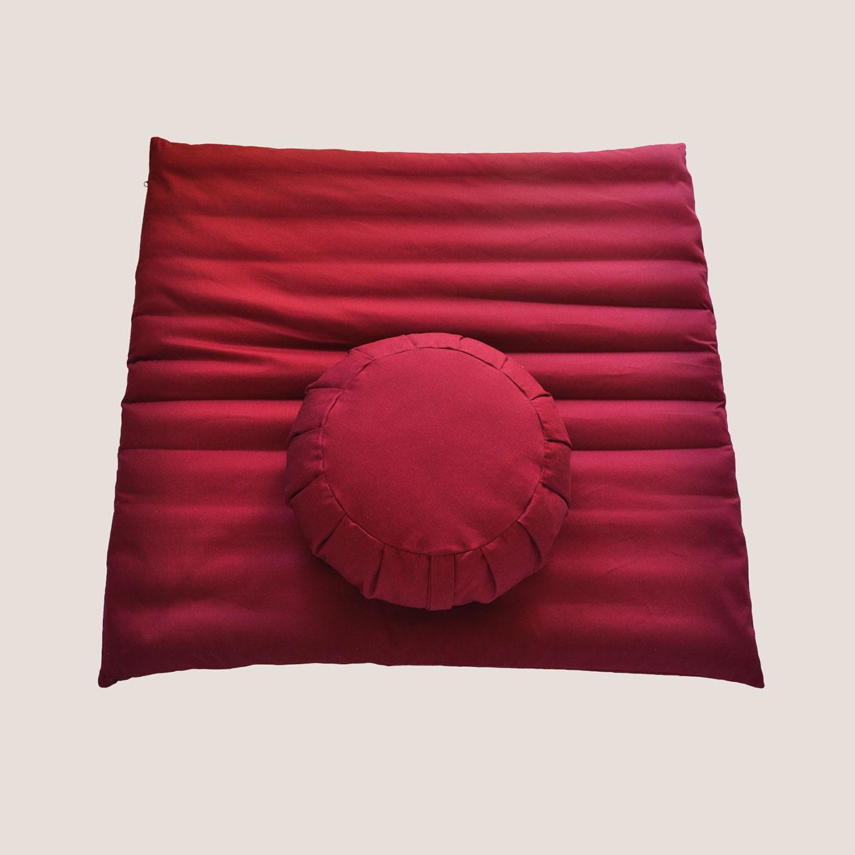 Zafu and Zabuton Meditation Cushion Set  Eco Health Lab