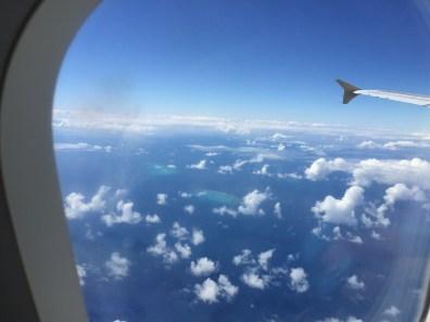 Wielka Rafa Koralowa widziana z samolotu
