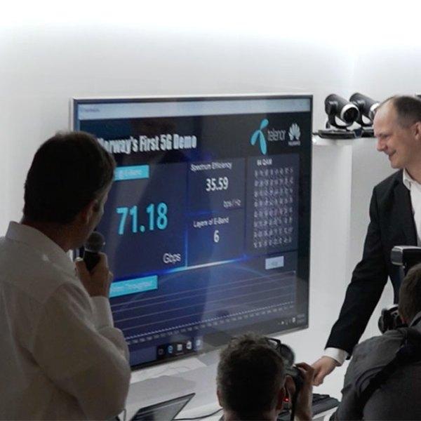 Ekstreme hastigheter da Telenor kjørte Norges første 5G-test