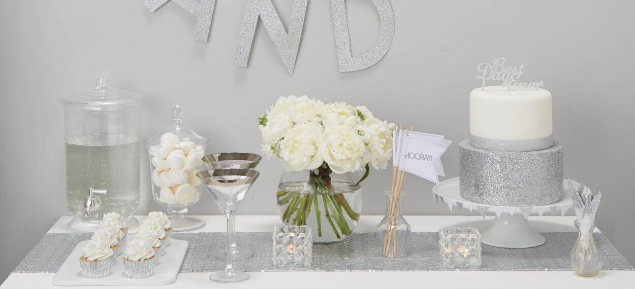 Hochzeitsdeko Trend silber und wei