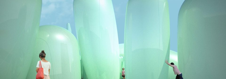 light green inflatable garden, EFTE