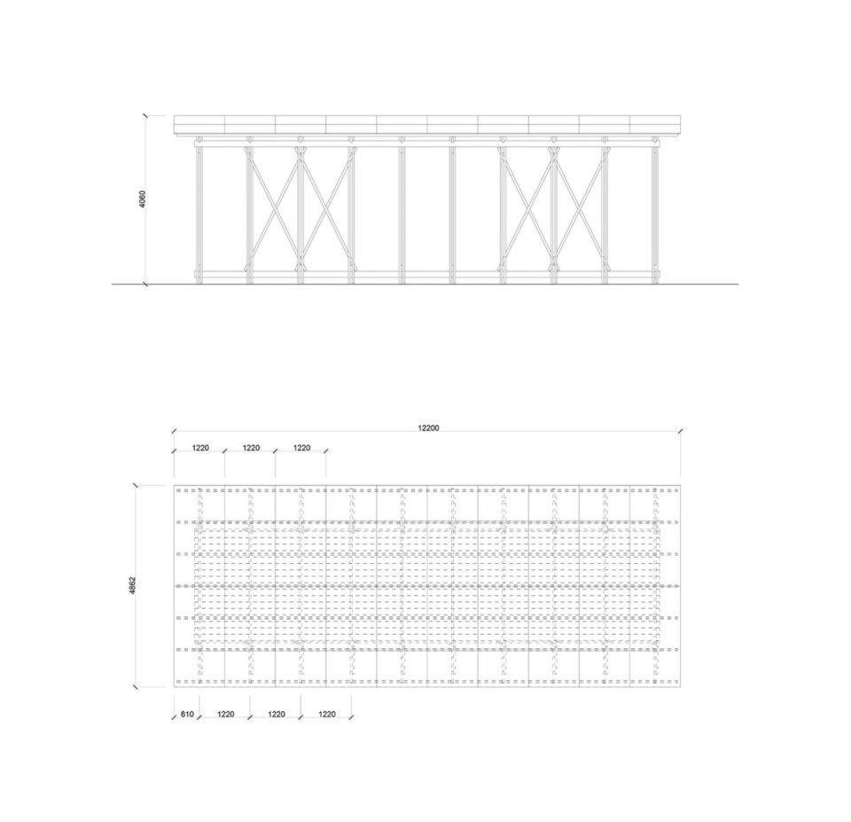 panic pavilion technical drawing