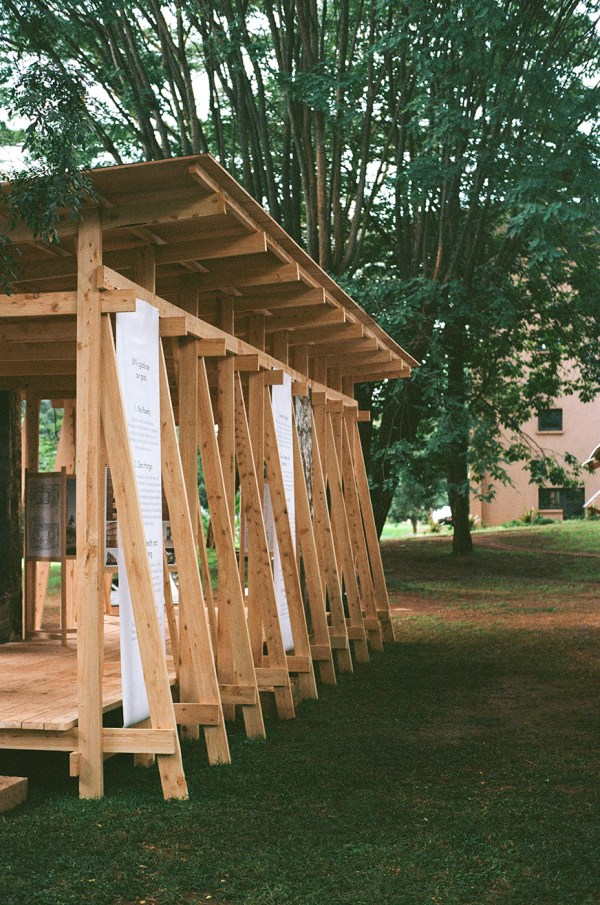 wood pavilion for UN