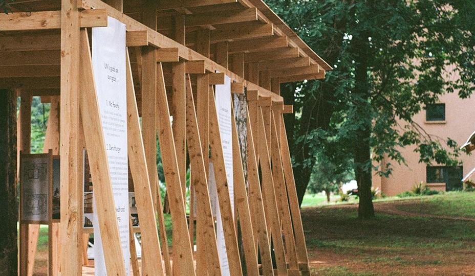 wood pavilion for UN