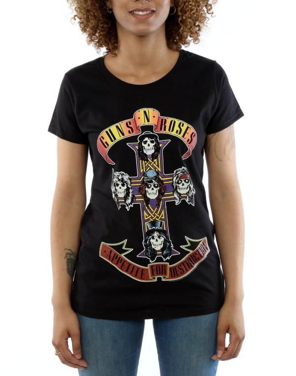 Guns Roses Women' Appetite Destruction T-shirt