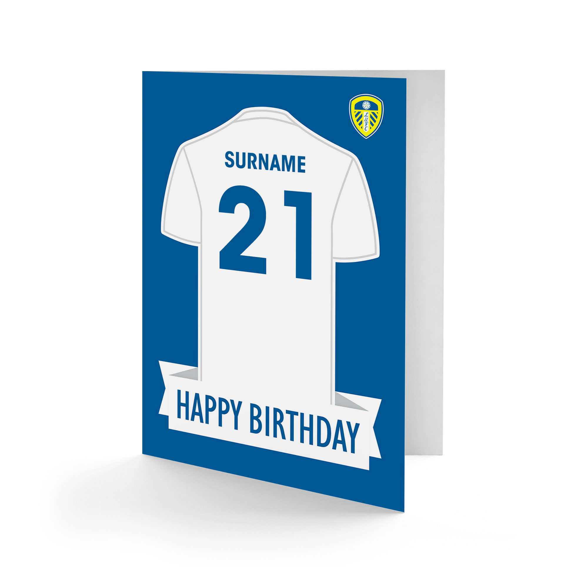 Personalised Leeds United FC Cards