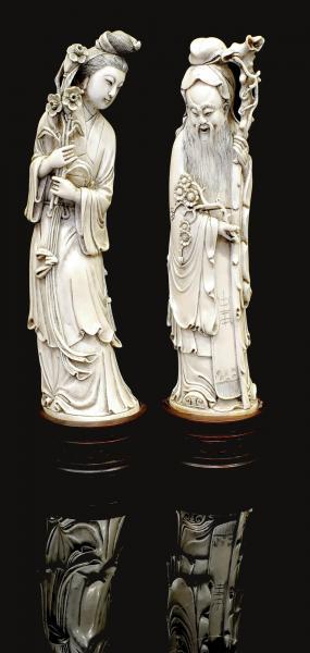 statuettes chine fin 19eme siecle