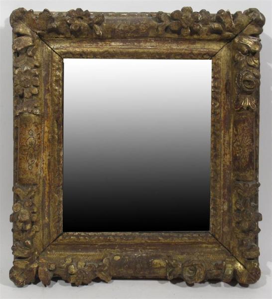 miroir forme d un cadre ancien en bois