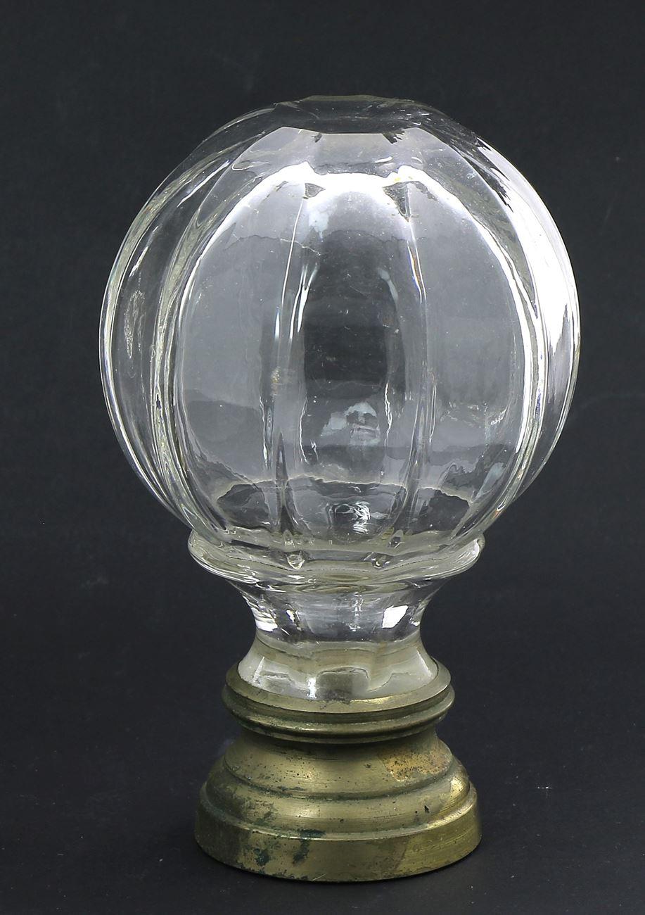 Boule De Rampe D'escalier : boule, rampe, d'escalier, Boule, Rampe, D'escalier, Ancienne, Verre, Moulé,, Laiton., Belle, Vente, Quimper, Enchères, Auction.fr