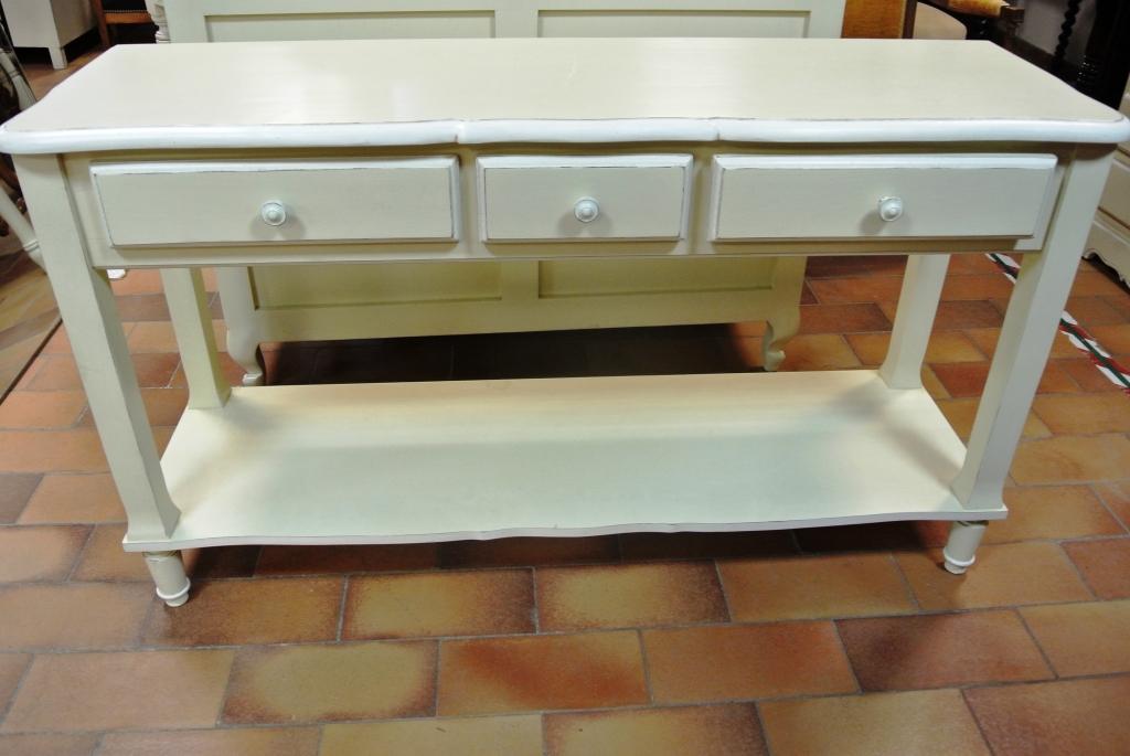 de tonge console 3 tiroirs en bois