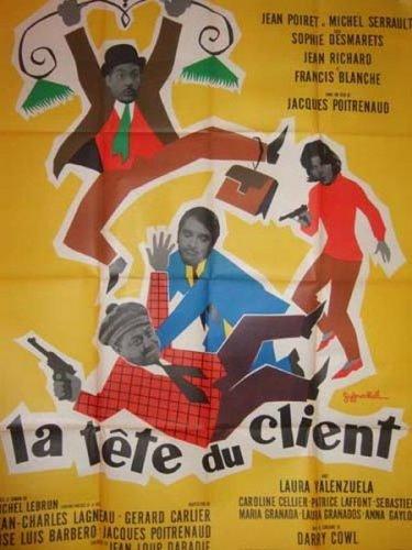A La Tete Du Client : client, TÊTE, CLIENT, (1965), Jacques, Poitrenaud, Affiches, Cinéma, ARCANE, ENCHERES, Auction.fr