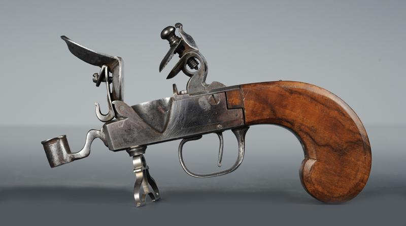 pistolet briquet a silex 19eme siecle