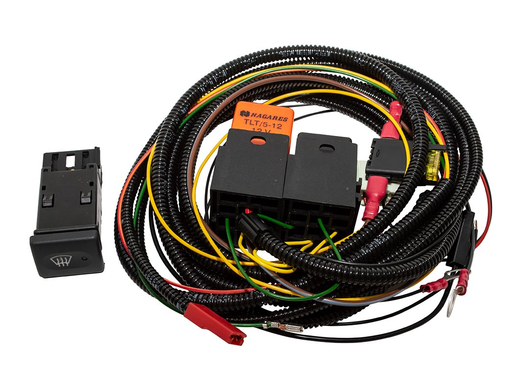 hight resolution of heated windscreen wiring kit da1401 land rover switch kit