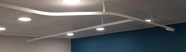 hospital cubicle curtain tracks