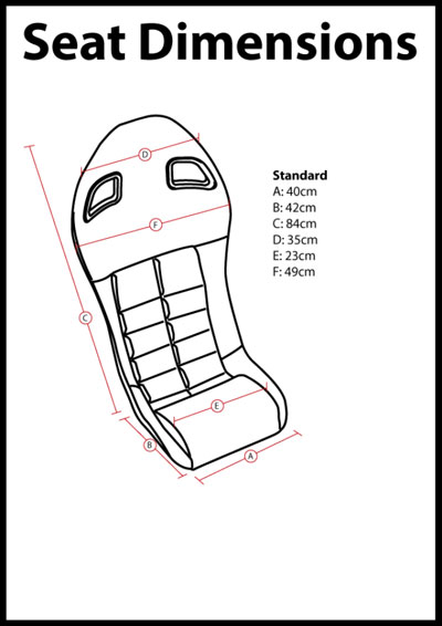 Corbeau LE Pro System 3 Kevlar/Carbon Replacement Seat for