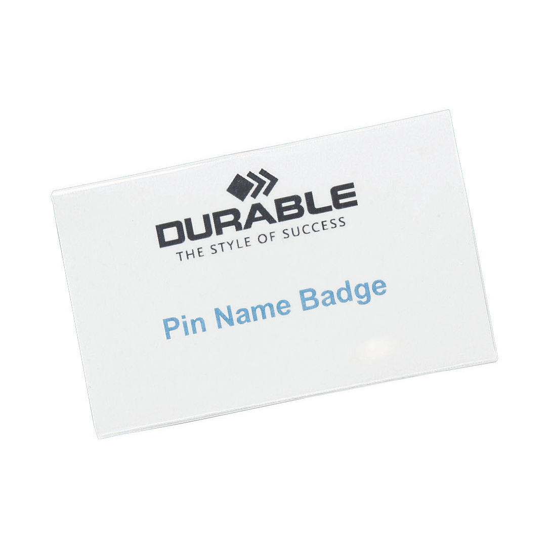 Durable Name Badges With Pin 40X75mm Ref 8008 [Pack 100