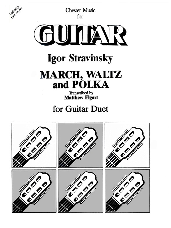 Sheet Music : Igor Stravinsky: March, Waltz And Polka For