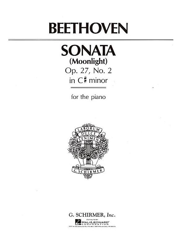 Beethoven: Piano Sonata In C Sharp Minor Op.27 No. 2