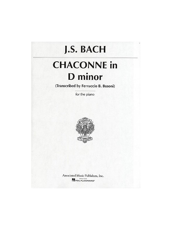 Sheet Music : J.S. Bach: Chaconne In D Minor (Piano