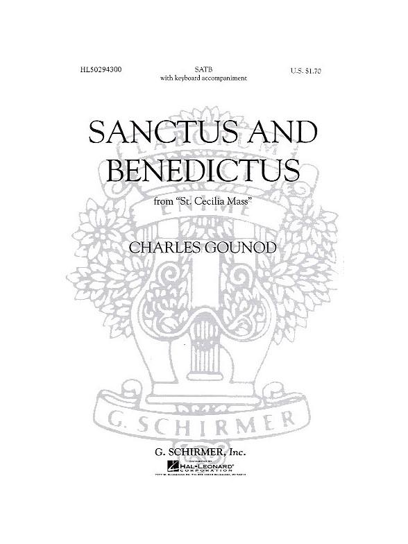 Sheet Music : Charles Gounod: Sanctus And Benedictus (St