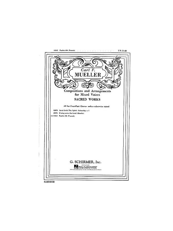 Sheet Music : Cesar Franck: Psalm 150 (SATB, Organ)