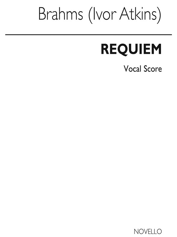 Sheet Music : Johannes Brahms: Requiem Op.45 (Novello