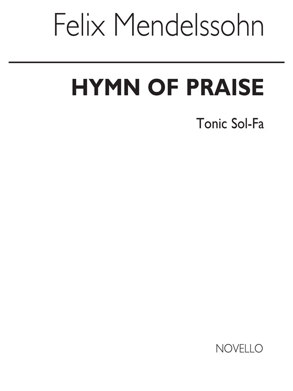 Sheet Music : Felix Mendelssohn: Hymn Of Praise (Vocal