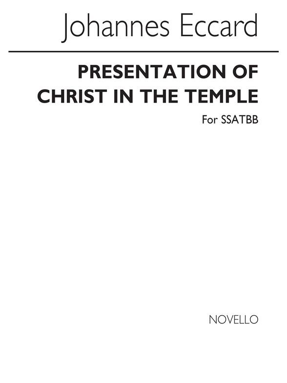 Sheet Music : John Eccard: Presentation Of Christ In The