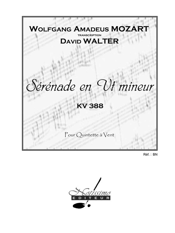 Sheet Music : Wolfgang Amadeus Mozart: Serenade in C minor