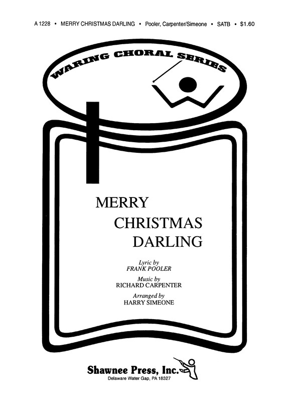 Sheet Music : The Carpenters: Merry Christmas Darling