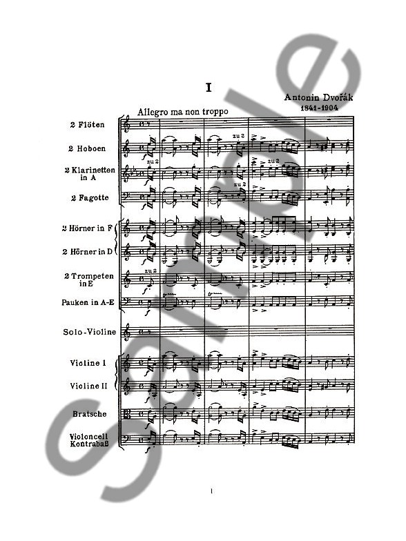 Antonin Dvorak: Violin Concerto In A Minor Op.53 And
