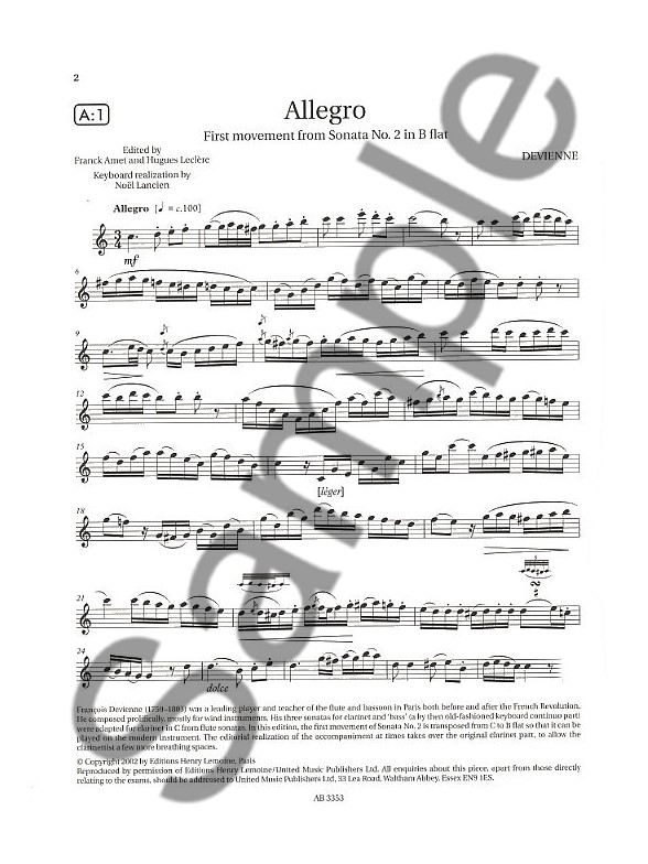 ABRSM Clarinet Examination Pieces: Grade 7 (2008-2013