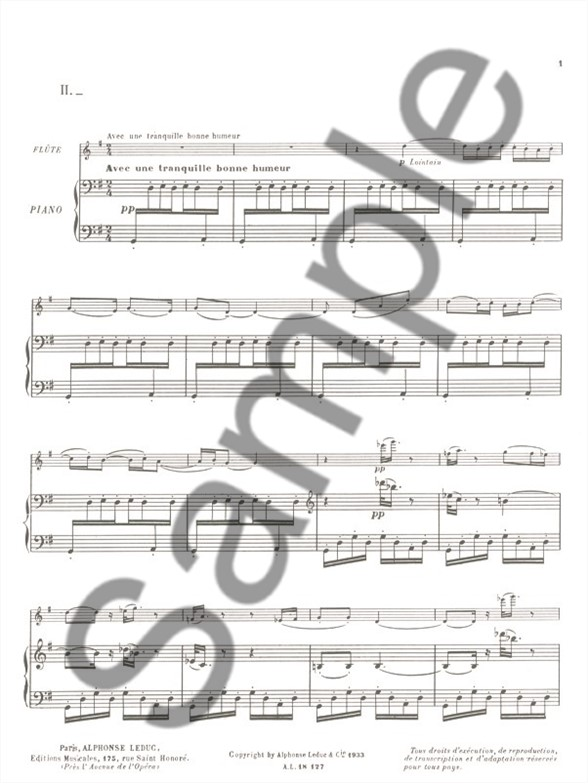 Jacques Ibert: Le Petit Ane Blanc (Flute/Piano) (Moyse