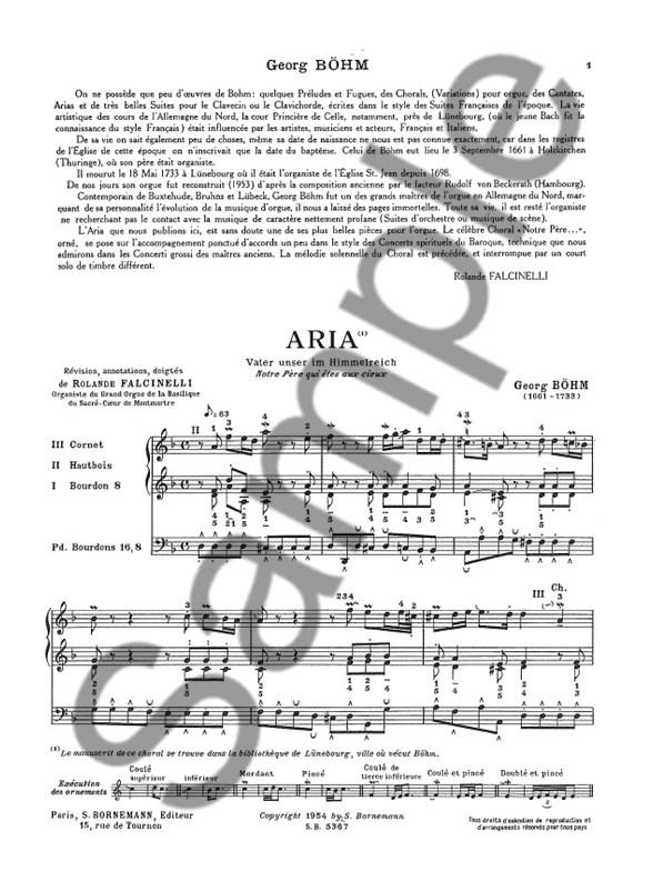 Johann Georg Bohm: Aria 'Vater Unser Im Himmelreich